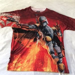 Boba Fett T- shirt all over graphics used cond